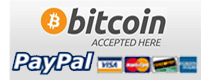 Bitcoins, Pay Pal and Credit Cards Accepted Here
